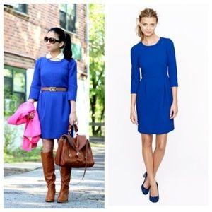 J.CREW TEDDIE DRESS BLUE KNEE LENGTH style #47465